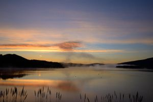 Another Sunrise at Crystal Springs Reservoir by FeralWhippet