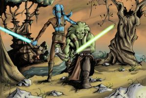 Kit Fisto and Aayla Secura by Dan-is-nice