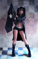 Black Rock Shooter by cibo-black-cat