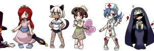 Skullgirls as kids by RemiuBlackBlood