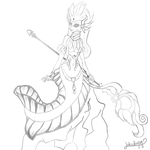 River Spirit Nami sketch by lekademon