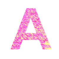 pink icing font A by Llendowyn