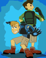 Wild Kratts strike a pose by InYuJi