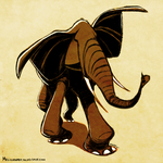 Daily Design: Elephant by sketchinthoughts