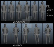 Idle Stance Initial Screenshots - Geoff by TwinkleCarnage