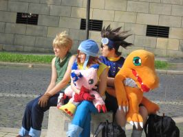 Connichi 2010 Digimon group by Moeker