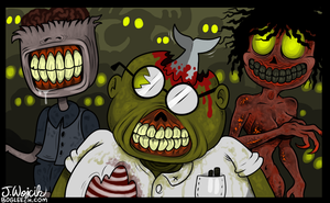 Zombied Fan Club by scythemantis