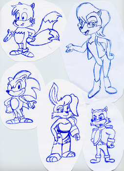 Sonic SATAM - Old Sketches by Roveel