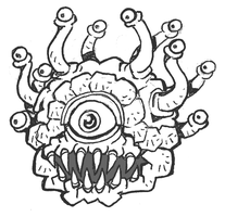 Beholder Sketch by Hologramzx