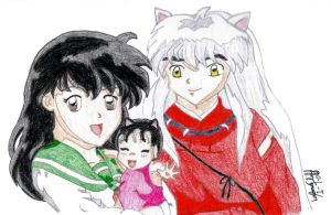 Inuyasha and Kagome Family by IsisConstantine