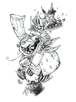 #Inktober-Mad Chef by RobbVision