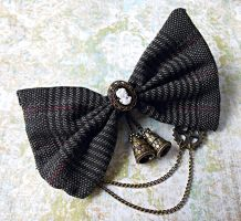 Steampunk Cameo Hair Bow by random-wish