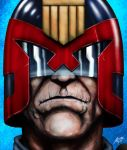 Judge Dredd in old age. by allistermac