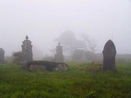 Foggy Graveyard II - Stock by Sassy-Stock