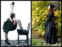 Sinner and Saint bustle skirt by sombrefeline