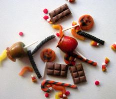 MICRO mini Halloween CANDY by LittleCalorieGallery