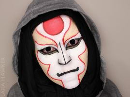 Legend of Korra - Amon - face paint by larahawker
