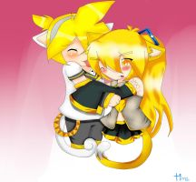 neko neru and len in love by The-cat1