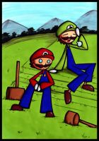 Mario and Luigi by SelanPike