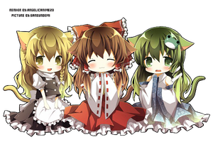Touhou chibi render 1 by angelicanime23