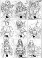 TC and B sheet 3 pencils by Csyeung
