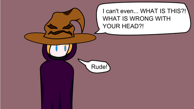 Drunk Sorting Hat 2 by technofairyfolclor