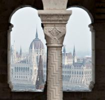 Parlement through the Arches by Anantaphoto