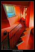 escalera roja by nitsugaphotography