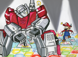 DDR BATTLE: Sideswipe vs Mario by ArwingPilot114