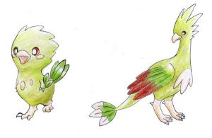 Fakemon: Pechico and evolution by Tyltalis