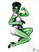 She-Hulk colors by blitzart01 by lovelyzitalee