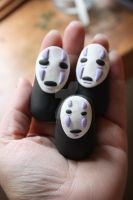 Noface Polymer Figurine by ittybittyhatchlings8