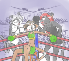 Boxing Champion Ruby -for lizardman234- by Mister-Saturn