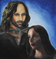 Aragorn and Arwen by SerenityStudios