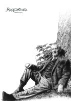 J.R.R. Tolkien under a Tree by JoelPoischen
