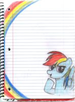 Rainbow Notebook doodle by gummigator