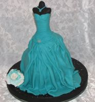mannequin dress cake by mysweetstop