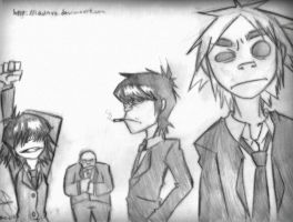 Gorillaz in suit by idolnya