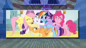 Wallpaper with mane6 by Hubert205