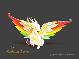 Gem, Rainbowing dragon by rosepeonie
