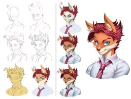 Tutorial Portrait by playfurry