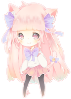 Chibi Comm 1: Kittenhime by MoeMacaron
