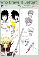 Naruto.Sasuke Who Draws It Better? MEME by Cassy-F-E