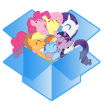 dropbox icon - mane six by spikeslashrarity