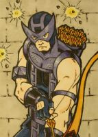 Hawkeye Sketch Card by chicagogeekdad