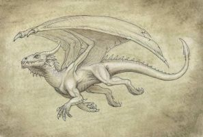 Dragon sepia by BrokenMachine86