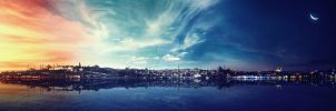 Day to night Istanbul by murathanozbek