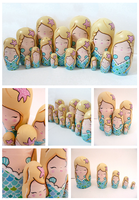 Mermaid Russian Dolls by ponychops