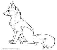 Free line art - canine by Key-Feathers