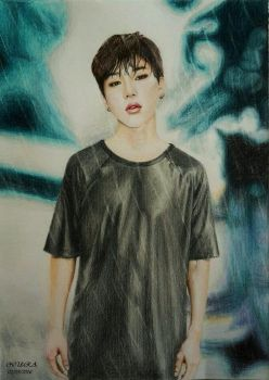 BTS Jimin - (Colour Pencils) by diamondnura